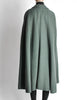 Saint Laurent Rive Gauche Vintage Green Falling Leaves Cape - Amarcord Vintage Fashion  - 8