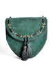 Yves Saint Laurent Vintage Green Suede Crossbody Bag - Amarcord Vintage Fashion  - 3