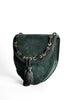 Yves Saint Laurent Vintage Green Suede Crossbody Bag - Amarcord Vintage Fashion  - 4