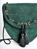 Yves Saint Laurent Vintage Green Suede Crossbody Bag - Amarcord Vintage Fashion  - 7