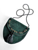 Yves Saint Laurent Vintage Green Suede Crossbody Bag - Amarcord Vintage Fashion  - 5