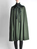 Saint Laurent Rive Gauche Vintage Green Wool Velvet Cape - Amarcord Vintage Fashion  - 2