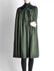 Saint Laurent Rive Gauche Vintage Green Wool Velvet Cape - Amarcord Vintage Fashion  - 6