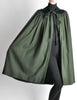 Saint Laurent Rive Gauche Vintage Green Wool Velvet Cape - Amarcord Vintage Fashion  - 4