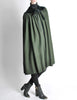Saint Laurent Rive Gauche Vintage Green Wool Velvet Cape - Amarcord Vintage Fashion  - 3