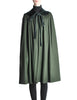 Saint Laurent Rive Gauche Vintage Green Wool Velvet Cape - Amarcord Vintage Fashion  - 1