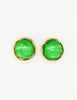 YSL Vintage Green Gripoix Glass and Gold Earrings - Amarcord Vintage Fashion  - 2