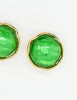 YSL Vintage Green Gripoix Glass and Gold Earrings - Amarcord Vintage Fashion  - 4