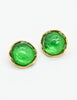 YSL Vintage Green Gripoix Glass and Gold Earrings - Amarcord Vintage Fashion  - 3