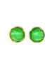 YSL Vintage Green Gripoix Glass and Gold Earrings - Amarcord Vintage Fashion  - 1