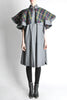 Saint Laurent Rive Gauche Vintage Grey Plaid Cape - Amarcord Vintage Fashion  - 2