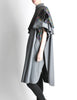 Saint Laurent Rive Gauche Vintage Grey Plaid Cape - Amarcord Vintage Fashion  - 3