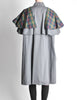 Saint Laurent Rive Gauche Vintage Grey Plaid Cape - Amarcord Vintage Fashion  - 8