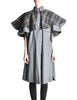 Saint Laurent Rive Gauche Vintage Grey Plaid Cape - Amarcord Vintage Fashion  - 1