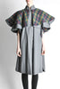 Saint Laurent Rive Gauche Vintage Grey Plaid Cape - Amarcord Vintage Fashion  - 4