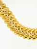 YSL Vintage Thick Gold Chain Black gem Necklace