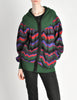 Saint Laurent Rive Gauche Vintage Chevron Knit Hooded Sweater Jacket - Amarcord Vintage Fashion  - 2