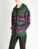 Saint Laurent Rive Gauche Vintage Chevron Knit Hooded Sweater Jacket - Amarcord Vintage Fashion  - 5