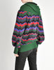 Saint Laurent Rive Gauche Vintage Chevron Knit Hooded Sweater Jacket - Amarcord Vintage Fashion  - 7