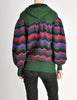 Saint Laurent Rive Gauche Vintage Chevron Knit Hooded Sweater Jacket - Amarcord Vintage Fashion  - 8