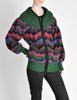 Saint Laurent Rive Gauche Vintage Chevron Knit Hooded Sweater Jacket - Amarcord Vintage Fashion  - 3