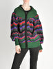 Saint Laurent Rive Gauche Vintage Chevron Knit Hooded Sweater Jacket - Amarcord Vintage Fashion  - 4