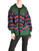 Saint Laurent Rive Gauche Vintage Chevron Knit Hooded Sweater Jacket - Amarcord Vintage Fashion  - 1