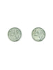 YSL Vintage Mint Green Monogram Button Earrings - Amarcord Vintage Fashion  - 1