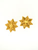 YSL Vintage Multicolor Gold Rhinestone Star Earrings - Amarcord Vintage Fashion  - 5