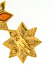 YSL Vintage Multicolor Gold Rhinestone Star Earrings - Amarcord Vintage Fashion  - 6