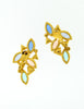 YSL Vintage Multicolor Enamel Rhinestone Geometric Earrings - Amarcord Vintage Fashion  - 5