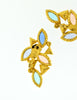YSL Vintage Multicolor Enamel Rhinestone Geometric Earrings - Amarcord Vintage Fashion  - 6