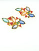 YSL Vintage Multicolor Enamel Rhinestone Geometric Earrings - Amarcord Vintage Fashion  - 4
