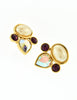 YSL Vintage Pearl Rhinestone Iridescent Heart Earrings - Amarcord Vintage Fashion  - 4
