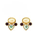 YSL Vintage Pearl Rhinestone Iridescent Heart Earrings - Amarcord Vintage Fashion  - 2