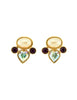 YSL Vintage Pearl Rhinestone Iridescent Heart Earrings - Amarcord Vintage Fashion  - 1
