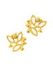 YSL Vintage Pink Enamel Rhinestone Geometric Earrings - Amarcord Vintage Fashion  - 5