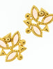YSL Vintage Pink Enamel Rhinestone Geometric Earrings - Amarcord Vintage Fashion  - 6