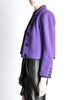 Saint Laurent Rive Gauche Vintage Purple Wool Bolero Cropped Jacket - Amarcord Vintage Fashion  - 3