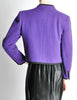 Saint Laurent Rive Gauche Vintage Purple Wool Bolero Cropped Jacket - Amarcord Vintage Fashion  - 6
