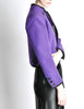 Saint Laurent Rive Gauche Vintage Purple Wool Bolero Cropped Jacket - Amarcord Vintage Fashion  - 5