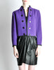 Saint Laurent Rive Gauche Vintage Purple Wool Bolero Cropped Jacket - Amarcord Vintage Fashion  - 2