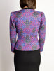 Yves Saint Laurent Vintage Purple Quilted Wool Peplum Jacket