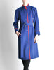 Saint Laurent Rive Gauche Vintage Blue & Red Wool Coat - Amarcord Vintage Fashion  - 2