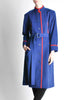 Saint Laurent Rive Gauche Vintage Blue & Red Wool Coat - Amarcord Vintage Fashion  - 5