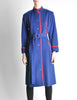 Saint Laurent Rive Gauche Vintage Blue & Red Wool Coat - Amarcord Vintage Fashion  - 3
