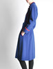 Saint Laurent Rive Gauche Vintage Blue & Red Wool Coat - Amarcord Vintage Fashion  - 6