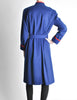 Saint Laurent Rive Gauche Vintage Blue & Red Wool Coat - Amarcord Vintage Fashion  - 7