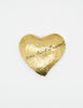 YSL Vintage Brushed Gold Signature Heart Brooch - Amarcord Vintage Fashion  - 2
