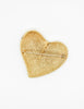 YSL Vintage Brushed Gold Signature Heart Brooch - Amarcord Vintage Fashion  - 4